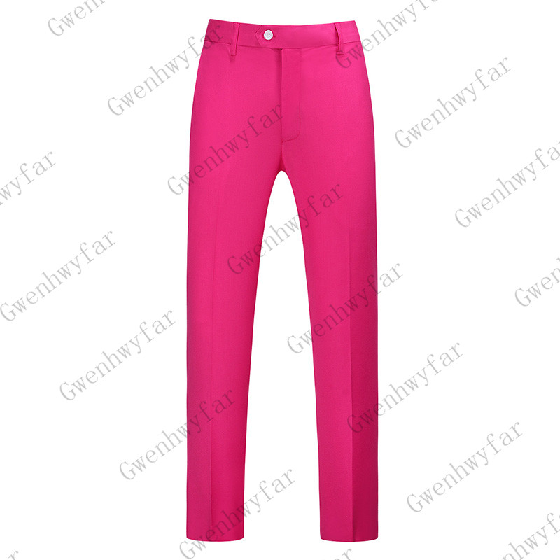 Gwenhwayfar, мужские синие клетчатые брюки, деловой костюм, брюки, деловые повседневные облегающие брюки, Классический Клетчатый костюм, брюки для свадьбы - Цвет: fuchsia