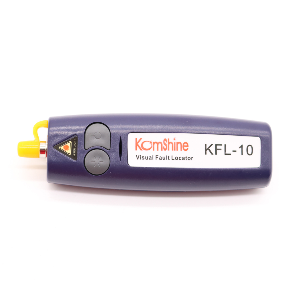 Free Shipping Red 10mW Mini Handheld Visual Fault Locator VFL Optical Fiber Cable Tester Fiber Optic Fiber Break Checker 12Km