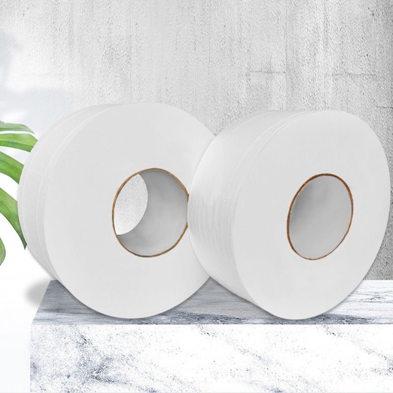 1 Roll Wood Pulp Toilet Paper Towel 4 Layers Embossed Food Grade No Core Tissue 100% Natural Wood