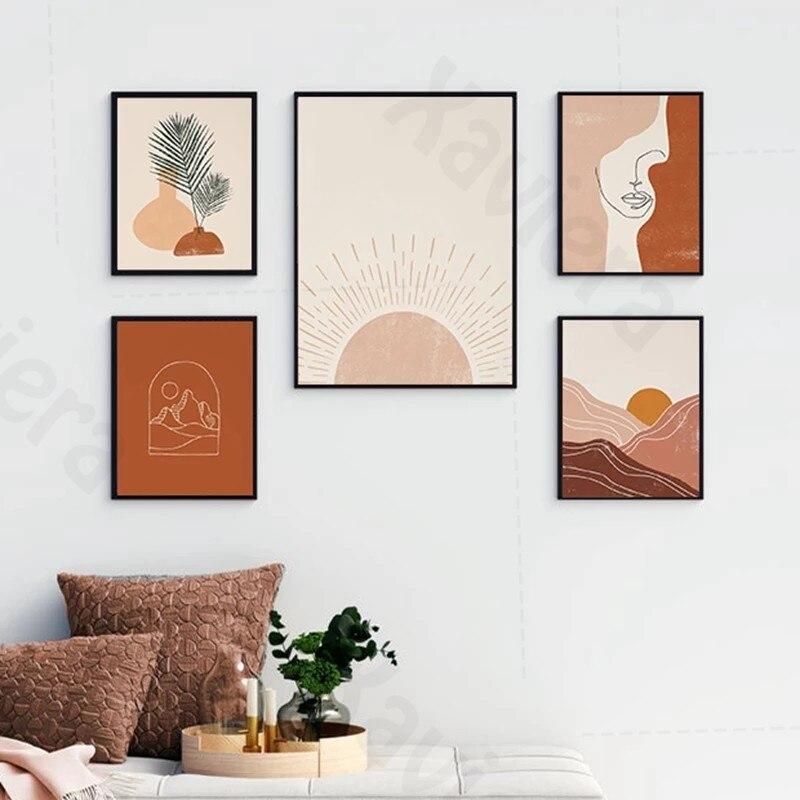 Купить бохо стиль абстрактные настенные картины пустыня скандинавские