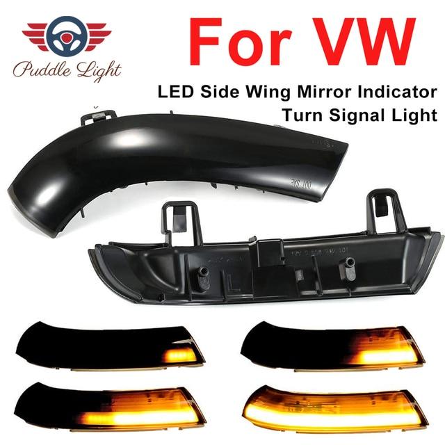 Dynamic LED Turn Signal Lights Rearview Mirror Indicator Blinker Repeater For Volkswagen VW GOLF 5 Jetta MK5 Passat B5.5 B6 EOS
