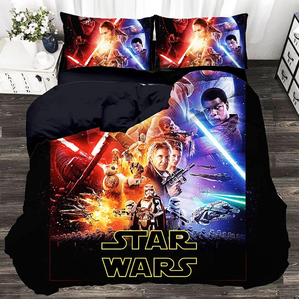 Star Wars 3d King Size Bedding Set Designer Nation Down Duvet Set Large 3pcs Custom Bedding