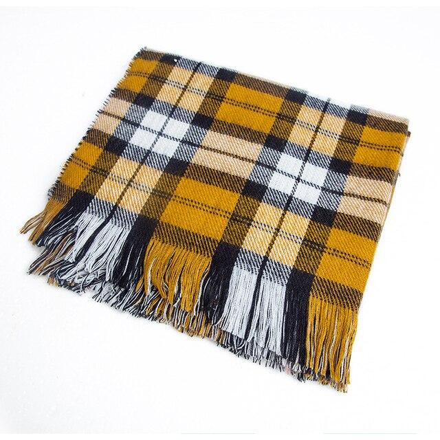 [FEILEDIS] 2020 luxury Plaid Winter Scarf Women Warm Foulard Solid Scarves Fashion Casual Scarfs Cashmere FD1001 8