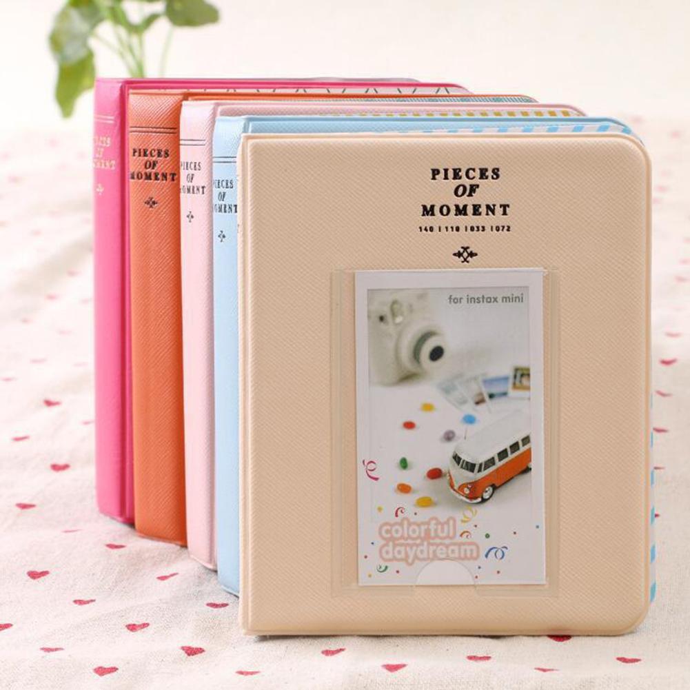 64 кармана 3 дюйма мини мгновенное хранение Polaroid памяти фотоальбом фото Подарочный держатель для Fujifilm Instax мгновенный чехол
