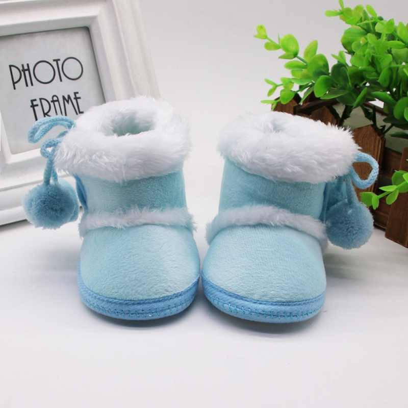 Newborn Girls Boys Shoes Baby Boots Winter First Walkers Tassel Fur Snow Super Warm Prewalkers Soft Sole No-slip Booties