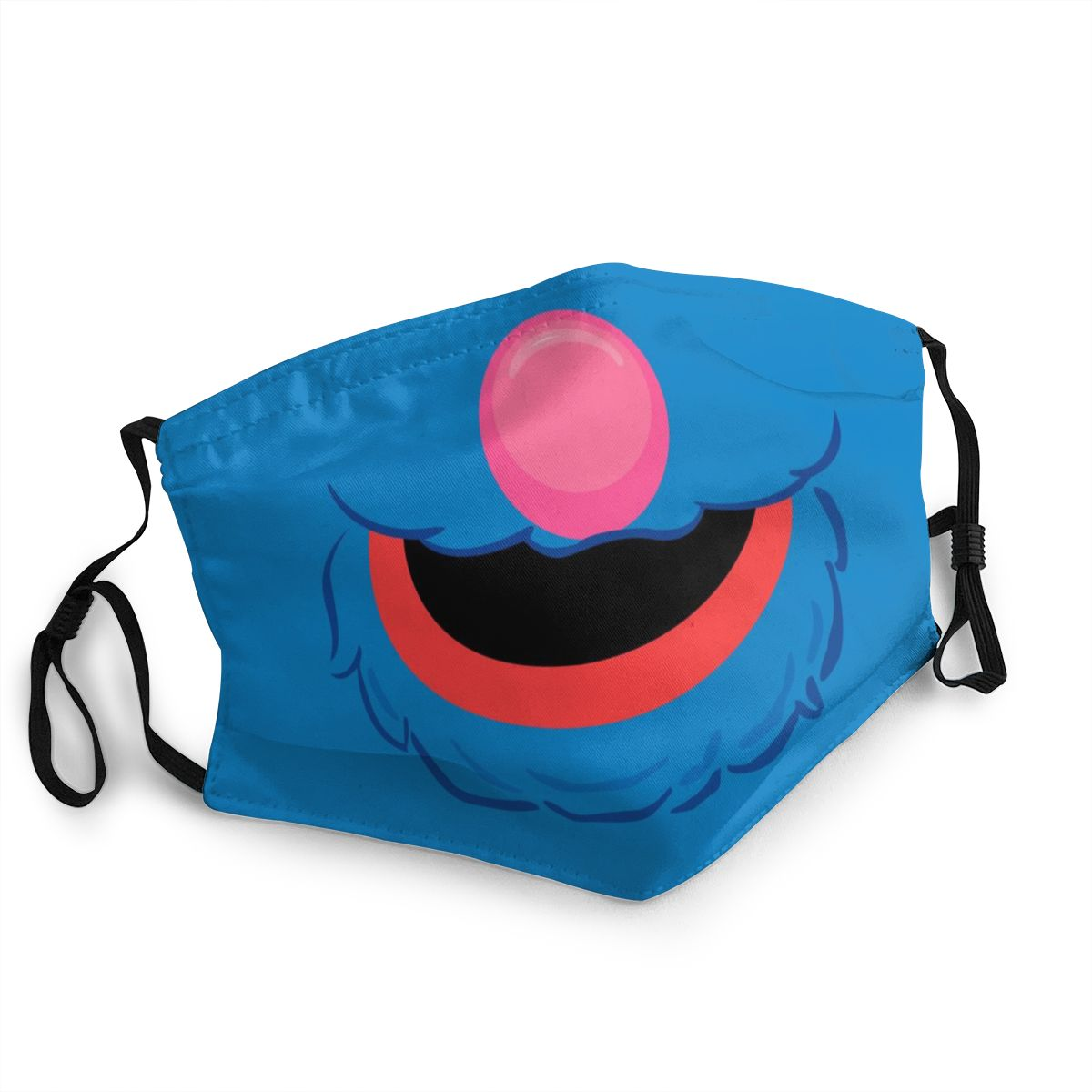 Blue Friend Sesame Street Non-Disposable Mouth Face Mask Cute Cartoon Anti Bacterial Dustproof Mask Protection Respirator Muffle
