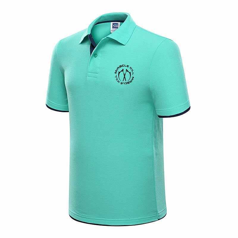 2019 yeni Polo Pika marka giyim erkek moda rahat Polo erkekler gömlek katı rahat Polo Tee gömlek Tops yüksek kalite slim Fit