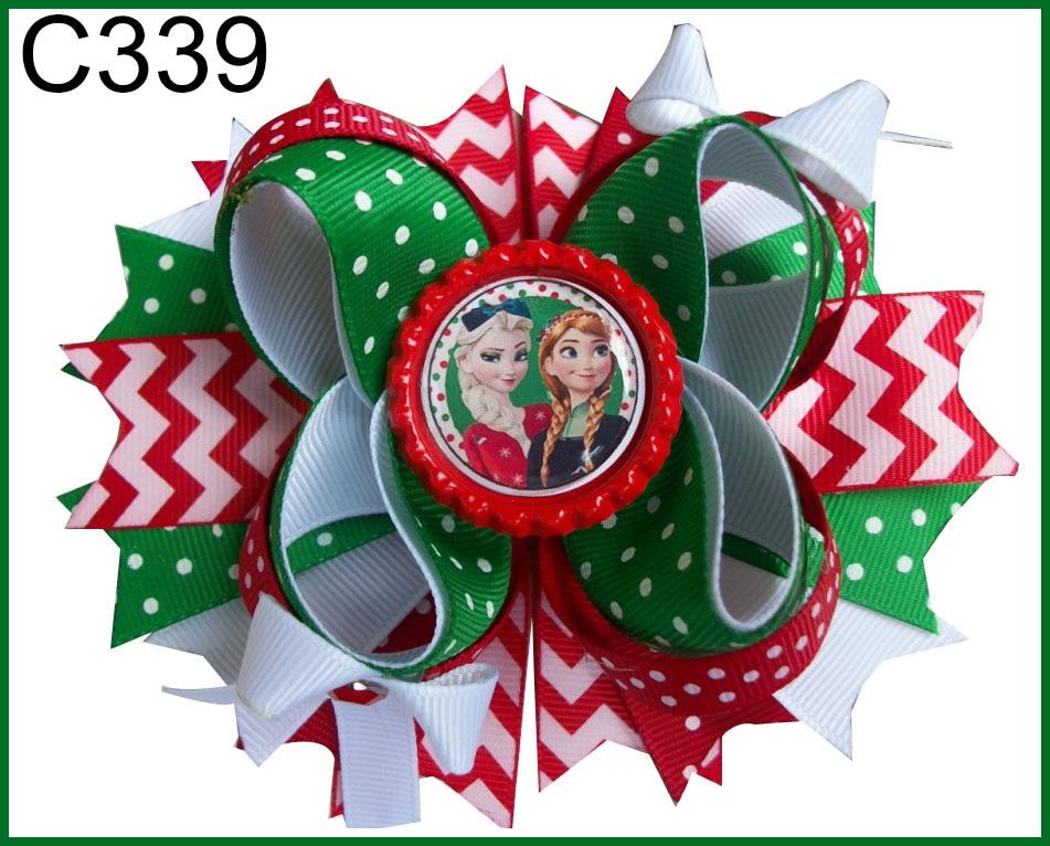 E 180 шт. Рождественский бант для волос карамельный тростник бант Санта заколка для волос оленьи рожки на ободке праздничный бант для волос