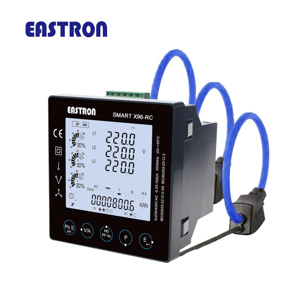 Analytical Smartx96-rc + 3pcsesct-rc Rogowski Coil Three Phase Three Wire Rogowski Coil Panel Meter High Quality And Inexpensive