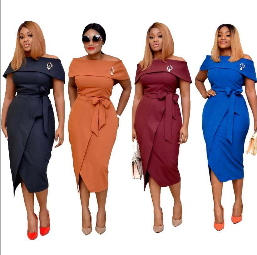 US $19.99 42% OFF|2019 New Arrival Spring and Autumn African Dresses for  Women Plus Size Off Shoulder Long Africa Dress African Clothes M XXL on ...