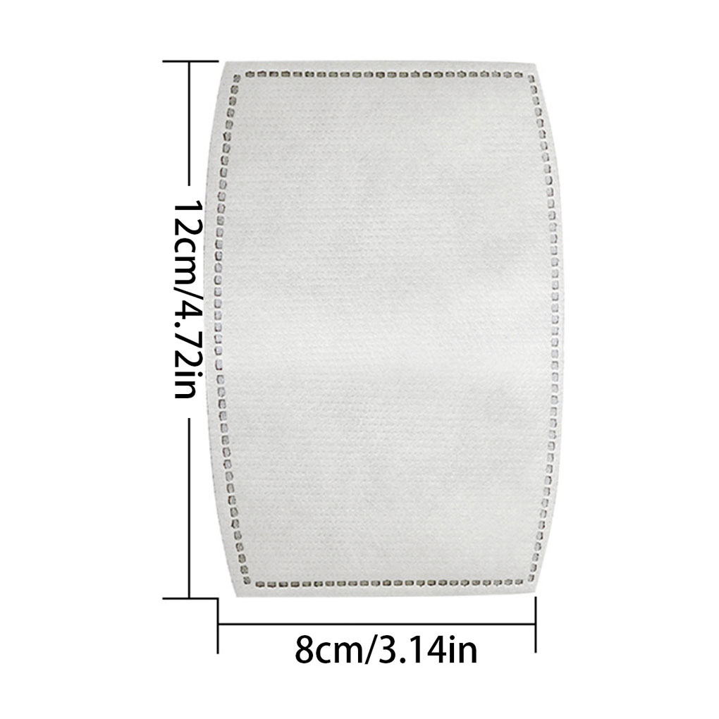 10/50/100pcs Face Mask 5 Layer Filter Insert Non-woven Fabric Mouth Mask Filter Air