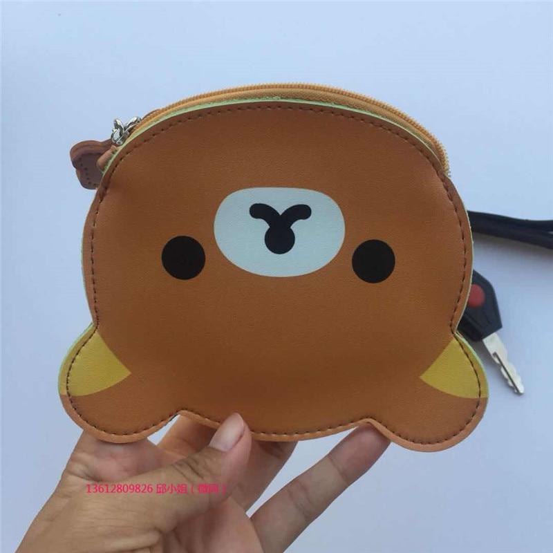 Korean-style Cute Cartoon Change Purse Rabbit Key Cool Gift PU Leather Headset Key