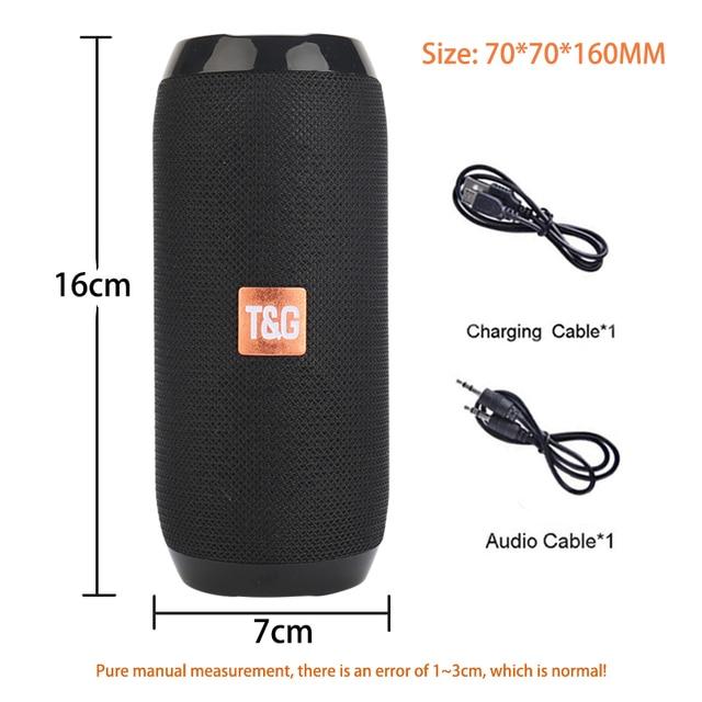 Portable Bluetooth-compatible Speaker Wireless Bass Column Waterproof Outdoor USB Speakers Support AUX TF Subwoofer Loudspeaker 6