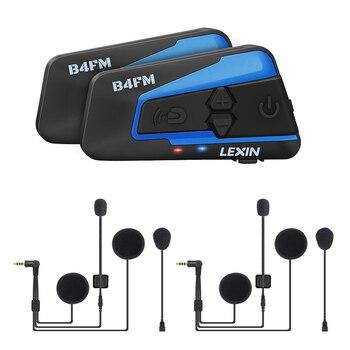 Lexin-intercomunicador inalámbrico con Bluetooth para Moto, 4 vías, para casco de Moto,...
