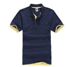 Polo clásico de verano para Hombre, camiseta de manga corta de algodón sólido corto, Camisa transpirable Masculina, Polo para Hombre, camisetas Golftennis 3XL