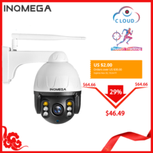 INQMEGA Cloud 1080P Outdoor PTZ IP Camera WIFI Speed Dome Auto Tracking Camera 4X Digital Zoom 2MP Onvif IR CCTV Security Camera