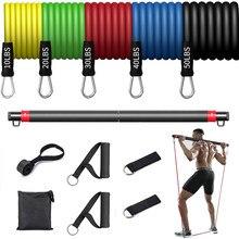 Fitness gumowa taśma do ćwiczeń joga elastyczna opaska Upgrade zestaw prętów treningowych Pilates trening ćwiczenia sprzęt do ćwiczeń ciągnąć linę