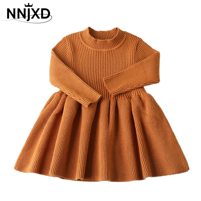 narrow Army Violate  Baby Girls Clothes Autumn Toddler Kids Girl Knitted Dress Solid Warm Red  Baby Christmas Dress Long Sleeve Girls Winter Dress-Leather bag