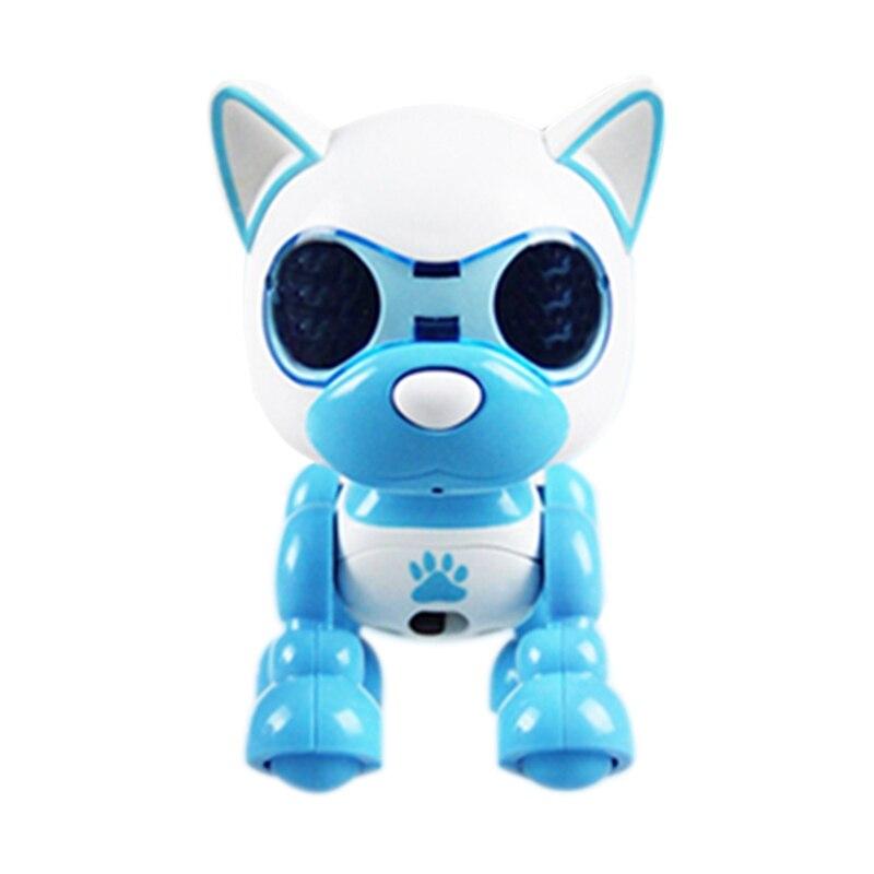 Smart Robot Dog Electronic Puppy Pets Toys Children Nductive Press Intelligent Interaction Fun Playmate Blue