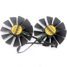 2 pçs/lote FD9015U12S PLD10015S12HH 95mm 12V 0.55A 5 Pinos para ASUS GTX970 980 780 STRIX-R9285 Refrigerador Placa Gráfica ventilador de refrigeração
