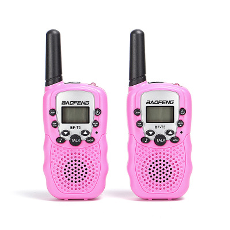 2pcs/Pair children's walkie talkie baofeng BF-T3 mini radio toys for children kids gift Portable Two-Way Transceiver