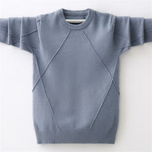Осень зима 2020 новый свитер с круглым вырезом свитеры для мальчиков