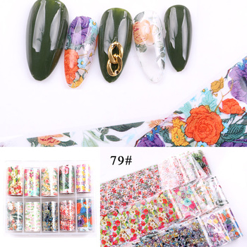 1set/lot 2.5*100cm Butterfly Spring Mix Flower Starry Sky Nail Foils set Transfer Sticker DIY Manicure Decoration Decals - 79