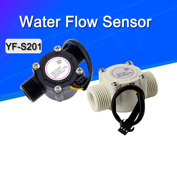 1-30L min czujnik przepływu wody przepływomierz 1 2 #8222 czujnik przepływu wody kontroler 2 0MPa dla przepływu urządzenie pomiarowe YF-S201 tanie i dobre opinie Stlxy Hydraulika