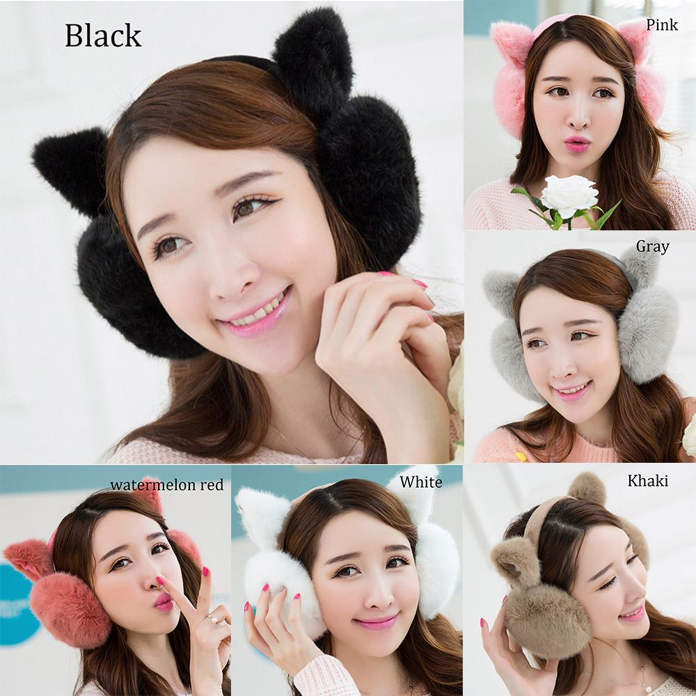 New Fashion Cute Ears Plush Earmuffs Comfortable Warm Earmuff Female Winter Outdoor Earmuff Protect Ears Winter Accessories