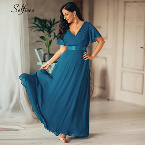 Image 4 - New Summer Women Dress Plus Size S 9XL Elegant A Line V Neck Short Maxi Sleeve Beach Dresses Boho Long Party Dress Robe Femme