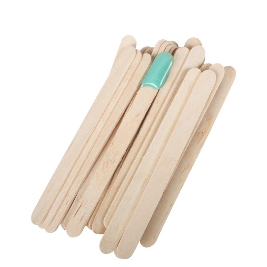 50PCS/SET Wood Sticks Beauty Body Tools Hair Removal Wax Wood Stick Wax Stick Ice Cream Stick Mask Stick Face Sticks