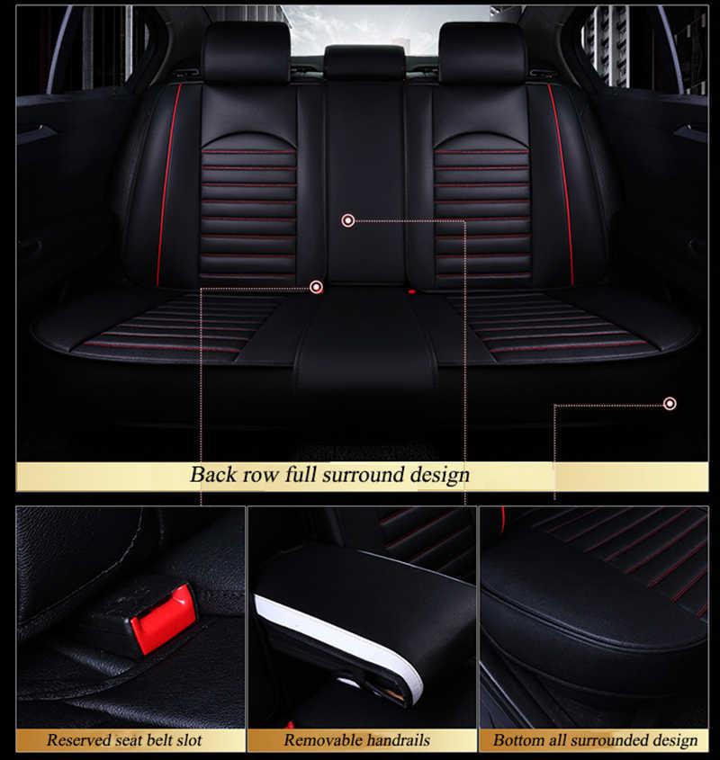 Чехлы Kalaisike для автомобильных сидений, кожаные универсальные чехлы для Toyota, все модели rav4 wish land cruiser mark auris prius camry corolla crown