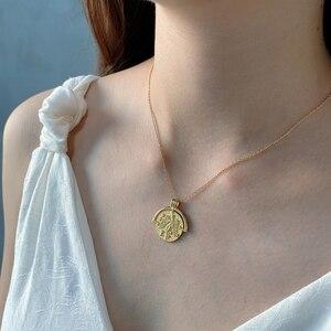 Image 4 - Louleur 925スターリングシルバー星座ネックレスペンダントゴールドエンボス干支ネックレス女性のためのシルバー925ジュエリーゴールド