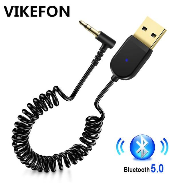 بلوتوث استقبال 5.0 سيارة بلوتوث استقبال الصوت USB 3.5 مللي متر AUX جاك ستيريو Hifi سيارة الارسال المتكلم السيارات اللاسلكية محول