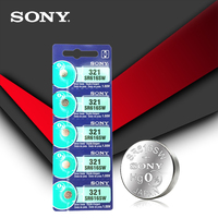 2pc Sony 100% Original 321 SR616SW 1.55V Silver Oxide Watch Battery SR616SW 321 Button Coin Cell MADE IN JAPAN 2