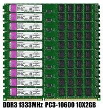 10PCS x 2GB DDR3 1333mhz PC3-10600U Desktop Memory DIMM 240-Pin RAM 1.5V NON ECC