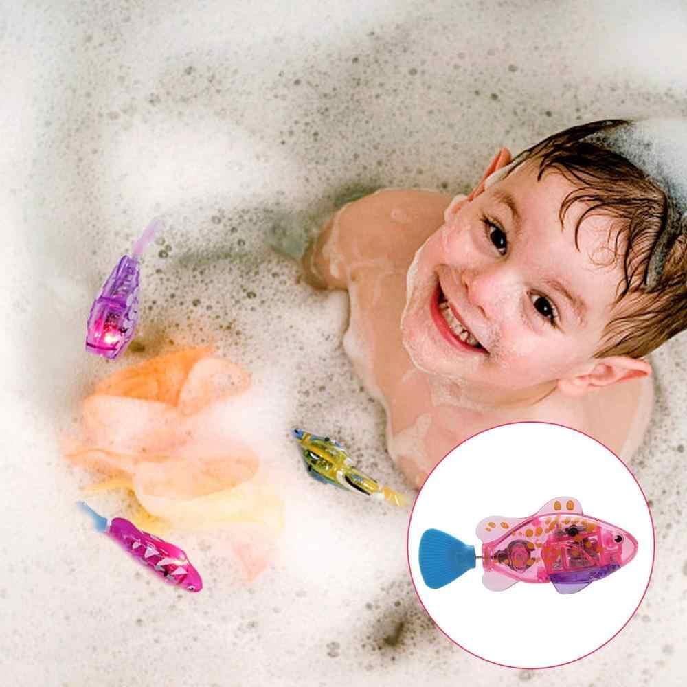 Плавательный робот рыбок игрушка для кошки и собаки с светодиодный свет, Интерактивная пляжная игрушка, ванна пластиковая рыба игрушка с ребенком (2 Pacs)