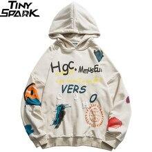 2020 männer Hip Hop Hoodie Sweatshirt Streetwear Harajuku Graffiti Hoodie Pullover Gesicht HipHop Lose Hoodie Skateboard Herbst