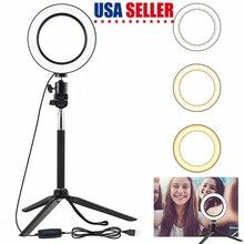 5W Сид SMD кольцо заполняющий свет с штатив селфи палка Dimmable вело свет камеры телефона фотостудии лампы для освещения видео макияж