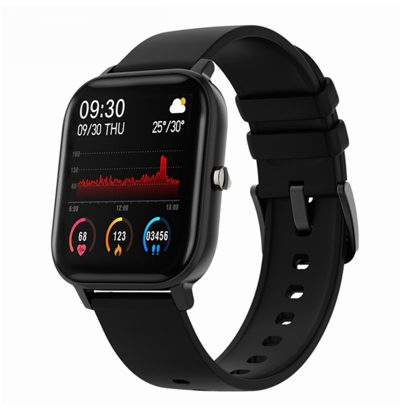 P8 Smart Watch Men Women 1.4inch Face ID Full Touch Fitness Tracker Heart Rate Monitoring Sports Watches GTS for Xiaomi Huawei