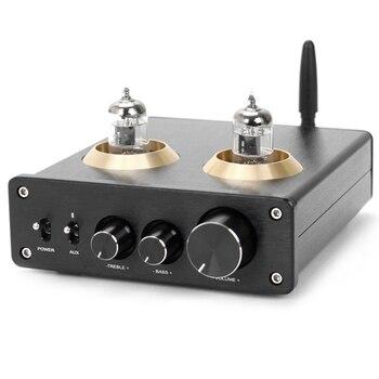 6J1 Tubo De Vacío Preamplificador TPA3116 HiFi Amplificador De Potencia Digital 100W + 100W 5,0 Bluetooth APTX Estéreo Amp Para El Hogar DIY