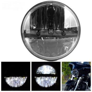 2PCS 7Inch Round LED Headlights High/Low Beam for Jeep Wrangler CJ JK TJ Yamaha V-Star 1100 Classic & Silverado 2000-2009