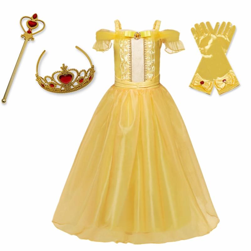 Girls Cosplay Princess Dress Halloween Costume for Children Kids Girls Party Dresses 3