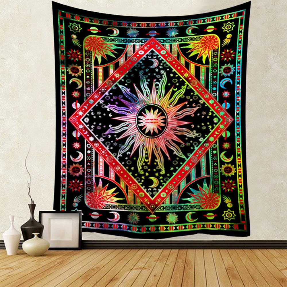 Magic Starry Sky Tapestry Wall Hanging Mandala Skull Sandy Beach Throw Rug Blanket Camping Tent Travel Mattress Sleeping Pad Mat