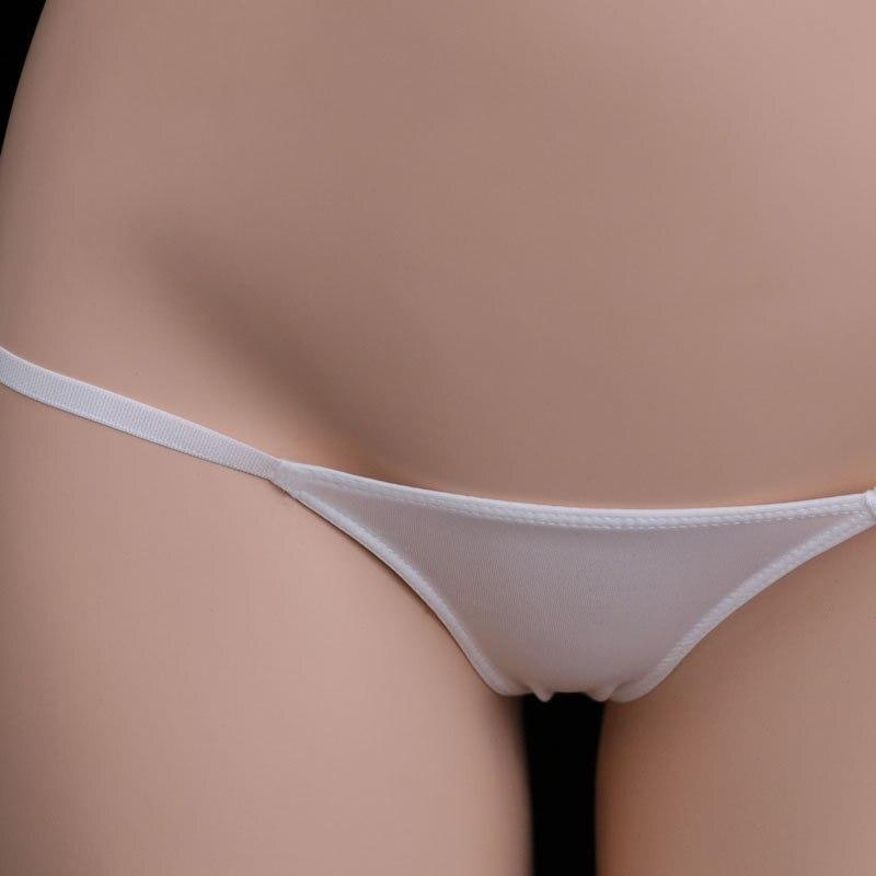 Low Waist Micro Mini Kawaii G String Femme Ice Silk Transparent Tangas Women Sexy Erotic Underwear Tanga Thong Calcinha Strings