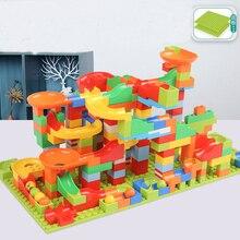 88/330 шт гоночные блоки Строительные блоки Воронка слайд блоки модели сборные серии DIY Развивающие Кирпичи игрушки для детей мальчик