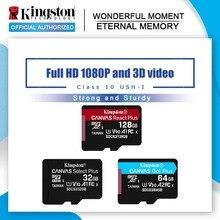 Kingston carte Micro SD, 16 go/32 go/64 go/UHS I go/128 go, classe 10, TF, carte mémoire pour téléphone