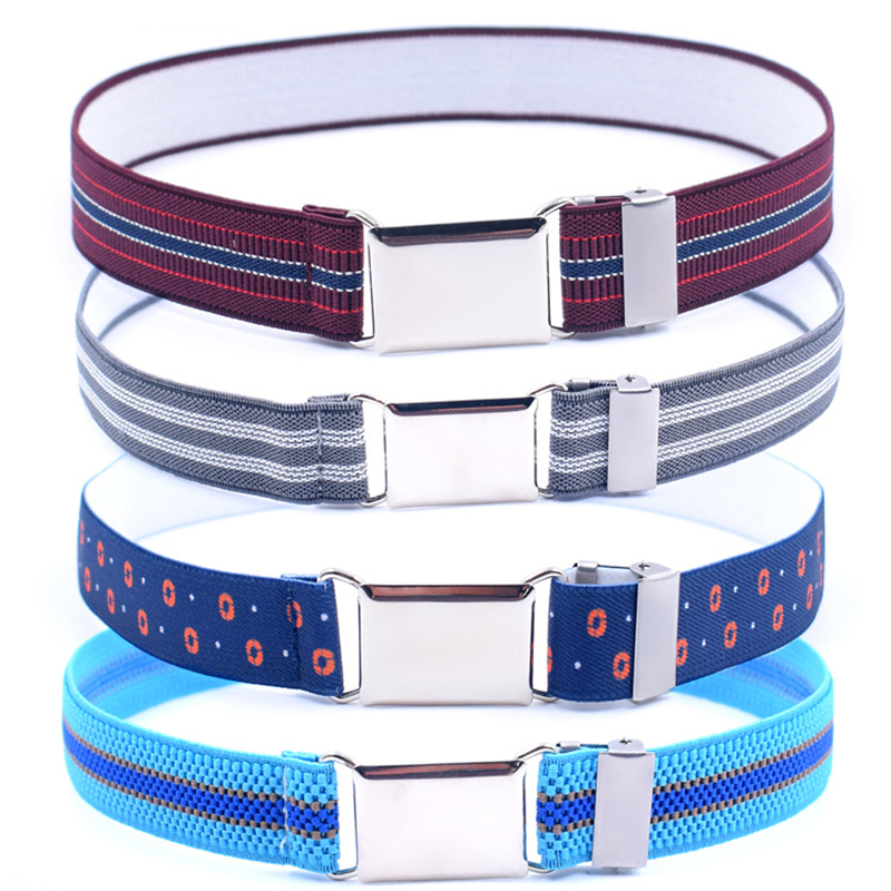 Children Kids Solid Color Unisex Canvas Belts Boys Girls Elastic Belt Adjustable