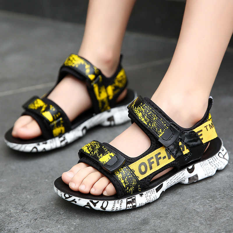 Slip Flat Ge-store Children S Fashion Sandals Boys Beach Shoes Buckle Baby Sandals Outdoor Kids Non