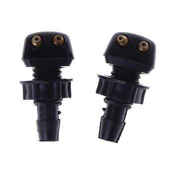 2 X Auto Car Front Windscreen Universal Washer Wiper Nozzle Water Spray DIY Kits For Vol~vo For V~W Replacement